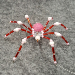 M070 Beaded Christmas Spider - Trinkets & Things Handmade with Aloha