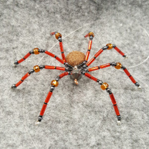 M071 Beaded Christmas Spider - Trinkets & Things Handmade with Aloha