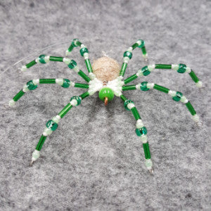 M072 Beaded Christmas Spider - Trinkets & Things Handmade with Aloha
