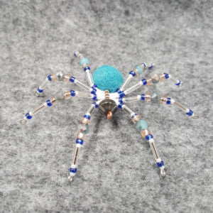 M073 Beaded Christmas Spider - Trinkets & Things Handmade with Aloha