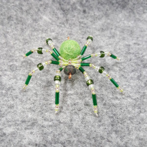 M074 Beaded Christmas Spider - Trinkets & Things Handmade with Aloha