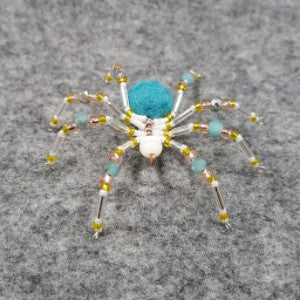 M075 Beaded Christmas Spider - Trinkets & Things Handmade with Aloha