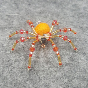 M076 Beaded Christmas Spider - Trinkets & Things Handmade with Aloha