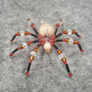 M077 Beaded Christmas Spider - Trinkets & Things Handmade with Aloha