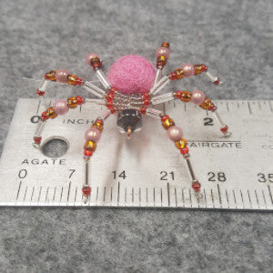 M078 Beaded Christmas Spider - Trinkets & Things Handmade with Aloha
