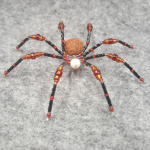 M079 Beaded Christmas Spider - Trinkets & Things Handmade with Aloha