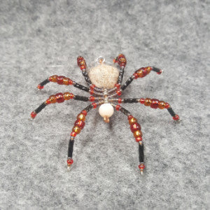 M080 Beaded Christmas Spider - Trinkets & Things Handmade with Aloha