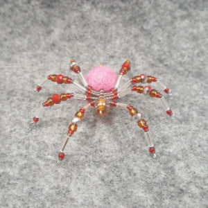 M082 Beaded Christmas Spider - Trinkets & Things Handmade with Aloha