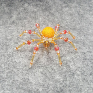 M084 Beaded Christmas Spider - Trinkets & Things Handmade with Aloha