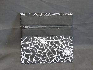 QT024 Quilted Coin Purse Spider Webs - Trinkets & Things Handmade with Aloha