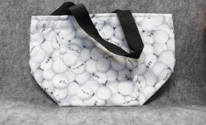 QT029 Golf Ball Print Small Tote - Trinkets & Things Handmade with Aloha