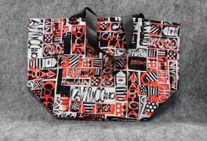 QT033 Coffee Print Small Tote - Trinkets & Things Handmade with Aloha