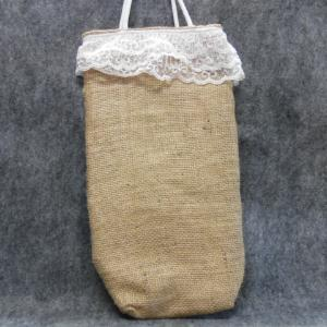 QT042 Quilted Burlap Bag - Trinkets & Things Handmade with Aloha