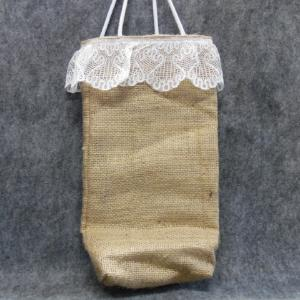 QT044 Quilted Burlap Bag - Trinkets & Things Handmade with Aloha