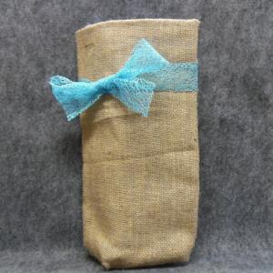 QT047 Quilted Burlap Bag - Trinkets & Things Handmade with Aloha