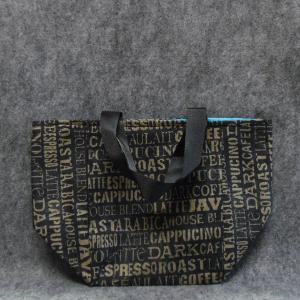 QT035 Random Coffee Print Small Tote - Trinkets & Things Handmade with Aloha
