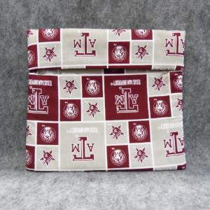 QT037 Microwave Bag A & M Block Print - Trinkets & Things Handmade with Aloha