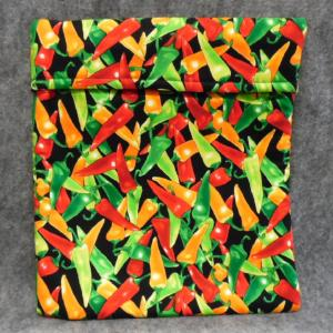 QT038 Microwave Bag Peppers Print - Trinkets & Things Handmade with Aloha