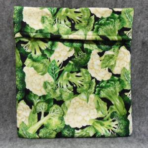 QT039 Microwave Bag Broccoli/Cauliflower Print - Trinkets & Things Handmade with Aloha