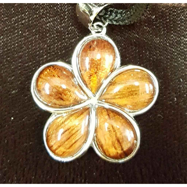 Koa Plumeria Large Pendant - Trinkets & Things Handmade with Aloha