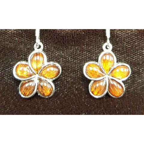 Koa Plumeria Large Dangle - Trinkets & Things Handmade with Aloha
