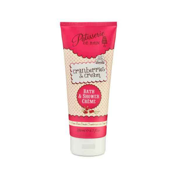 Patisserie de Bain Bath and Shower Crème - Cranberries & Cream 200ml