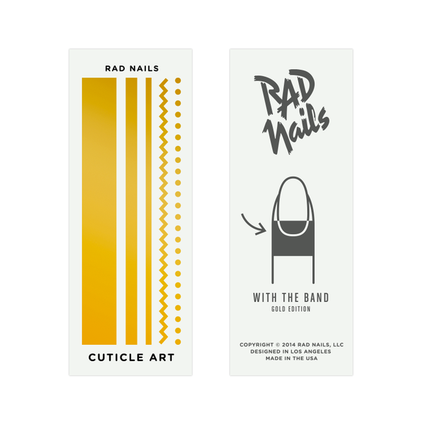 Rad Nails Gold Cuticle Tattoos - With The Band