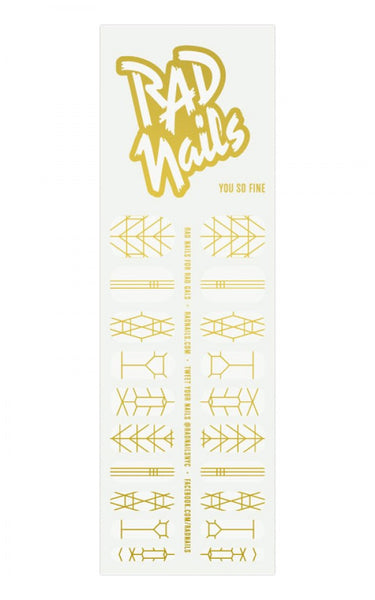 Rad Nails Gold Nail Wraps - You So Fine