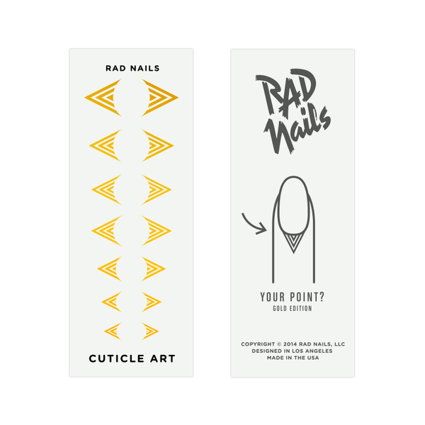 Rad Nails Gold Cuticle Tattoos - Your Point?