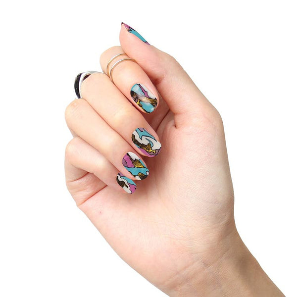 Tattify Nail Wraps - Colored Globe