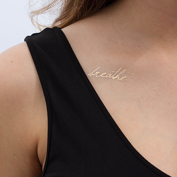 Tattify Temporary Tattoos - Just (gold & silver)
