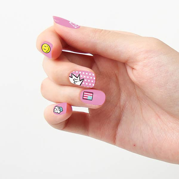 Tattify Nail Wraps - Loudly Popping Bubblegum