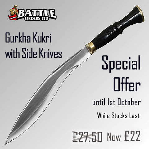 Gurkha Kukri with Side Knives