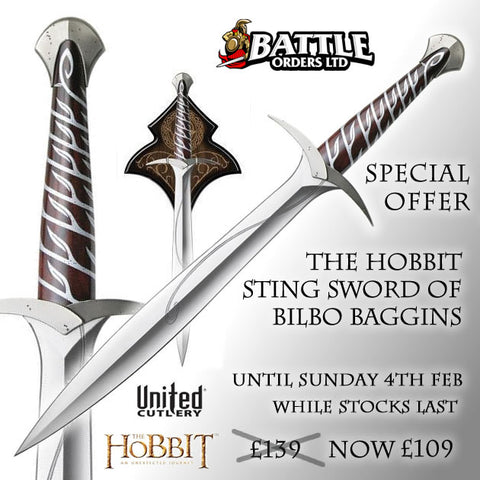 The Hobbit Sting Sword