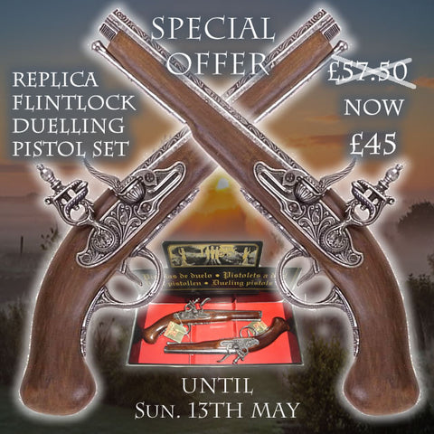 Flintlock Duelling Pistols Set Replica