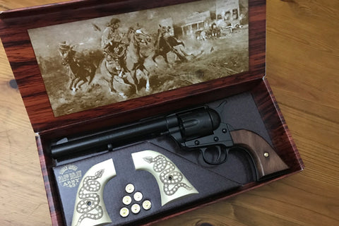 Colt 45 - Cavalry Black Finish With Spare Snake Grips