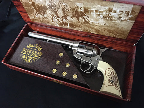 Colt 45 Cavalry Steel Finish With Bulls Head Grips