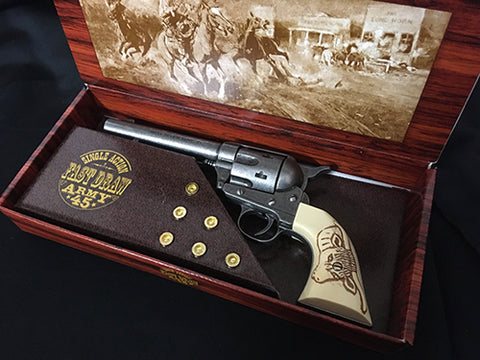 Colt 45 Western Frontier Model antique Grey finish - Bulls Head Grips