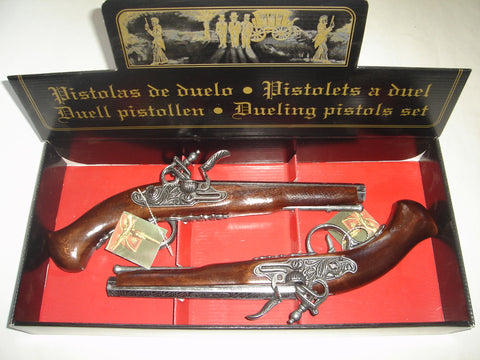Flintlock Dueling Pistols Set Replica