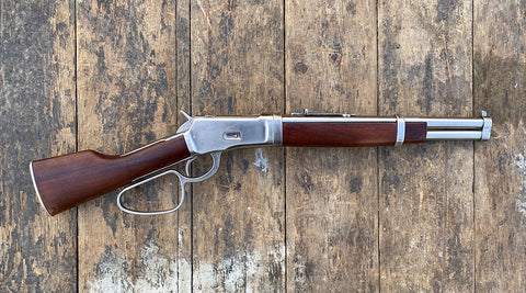 Extended Mares Leg Rifle Western Lever Action Steel Finish