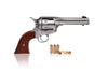 Colt 45 Peacemaker Replica Steel Finish Wood Grips & Changeable Bulls Head Grips