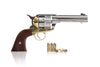 Colt 45 Peacemaker replica gun nickel and brass finish 1860's pattern