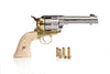 Colt 45 Peacemaker Replica Gun - Nickel And Brass