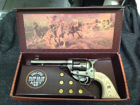 Western Frontier Model Steel Finish with Imitation Ivory Grips - 47-1065-1MNP