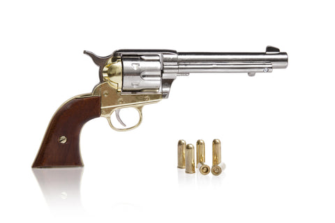 Colt Frontier Revolver nickel and brass finish 1860's pattern