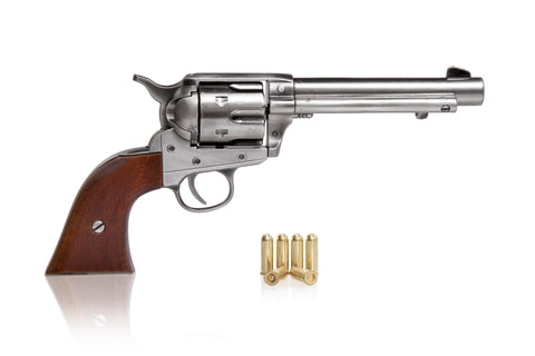 Colt 45 Peacemaker Western Frontier Model steel finish - wooden grips