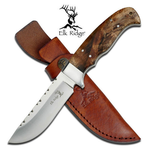 "Elk Ridge FIXED BLADE KNIFE 8.5"" OVERALL"