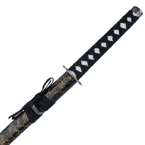 Black and Gold Leaf Samurai Sword