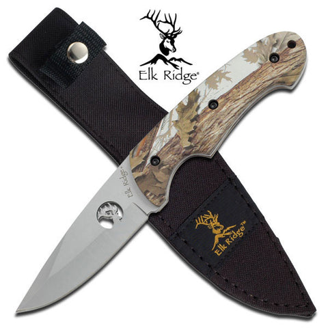 "Elk Ridge Fixed Blade Knife 8.5"" Overall - ER-046CA"