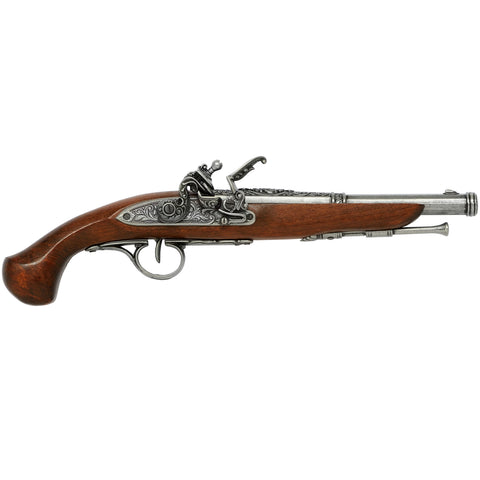 Colonial Replica 18TH Century Engraved Flintlock Pistol
